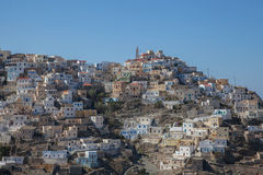 The picturesque village Olympos on Karpathos Stock Photo