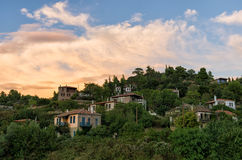 The picturesque village of Parthenonas, in Sithonia, Chalkidiki, Greece Royalty Free Stock Photography