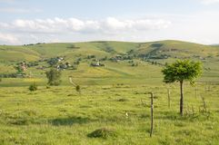 Picturesque village at the Pester Plateau in Serbia Stock Image
