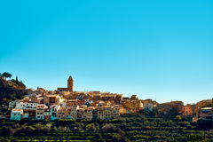 Picturesque village of Polop de la Marina. Spain Royalty Free Stock Photos