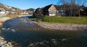 Picturesque village of Schiltach in Germany royalty free stock photo