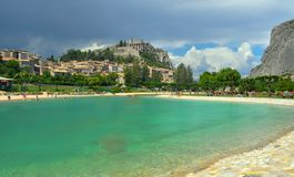 Sisteron in the Provence area in France royalty free stock images
