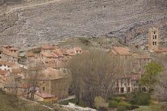Picturesque village in Spain. Villaroya de los Pinares. Teruel Stock Image