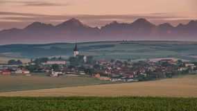 Picturesque village after sunrise stock footage