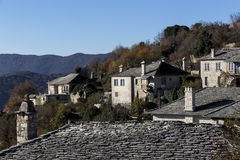 The picturesque village of Vitsa in Zagori area, northern Greece Royalty Free Stock Images