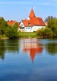 Picturesque village Winterhausen am Main, near Wuerzburg, Germany Royalty Free Stock Photography