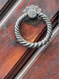 Picturesque Vintage doorknob on antique door Royalty Free Stock Image