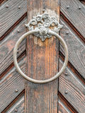 Picturesque Vintage doorknob on antique door Royalty Free Stock Photography