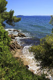 Picturesque water of the Aegean Sea. Royalty Free Stock Photography