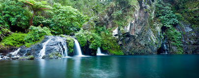 Picturesque waterfall Stock Photo