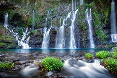 Picturesque waterfall Royalty Free Stock Photos