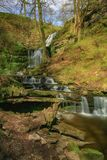 Scaleber Waterfall in Yorkshire Dales National Park stock photo