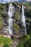 Picturesque waterfall in Northern Italy Royalty Free Stock Images