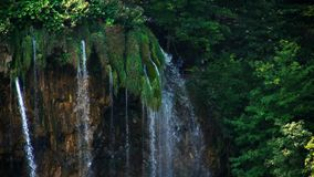 Picturesque waterfalls scenery in Plitvice Lakes National Park Stock Photos