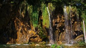 Picturesque waterfalls scenery in Plitvice Lakes National Park Stock Images