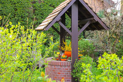 The picturesque well in the spring garden Royalty Free Stock Photography