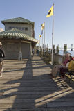 Picturesque Wilmington, NC Water Street Boardwalk Stock Photography