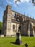 Picturesque Wiltshire, Malmesbury Abbey. Historic Malmesbury Abbey in spring sunshine, Wiltshire, UK Royalty Free Stock Image
