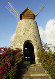 Picturesque windmill in the 3 Rivieres distillery park in Martin Stock Image
