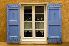 Picturesque window. Carcassonne. France Stock Images