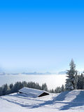 Picturesque winter landscape in the morning, austrian alps Stock Photos
