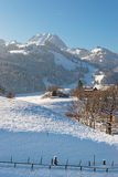 Picturesque winter landscape of Swiss mountains Royalty Free Stock Image