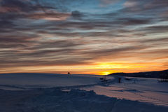 Picturesque winter sunrise Royalty Free Stock Photography