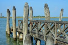 Picturesque wooden dock Royalty Free Stock Photography