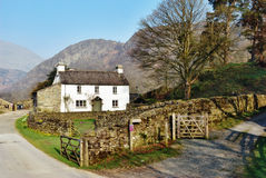 Picturesque Yew Tree Farm. Picturesque cottage on Yew Tree Farm in the English Lake District which was once owned by Beatrix Potter stock photography