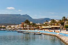 The pictursque port of Sitia, Crete, Greece. Royalty Free Stock Photos