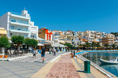 The pictursque port of Sitia, Crete, Greece. Sitia is a traditional town at the east Crete n Stock Image