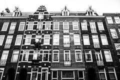 Picure abstracto de las casas de Amsterdam Imagenes de archivo