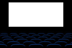 Picure of cinema seats Royalty Free Stock Photos