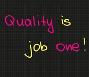 Quality is the job number one Royalty Free Stock Image