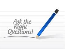 Pida el ejemplo correcto del mensaje de los posts de las preguntas libre illustration