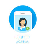 Pida una llamada detrás Fotos de archivo libres de regalías
