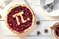Pidag Cherry Pie royaltyfria bilder
