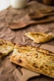 Pide de Tukish con queso/el pide de Kasarli Fotos de archivo