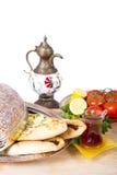 Pide turco na placa de cobre Fotografia de Stock Royalty Free