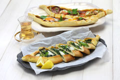 Pide, turkish pizza Royalty Free Stock Photography
