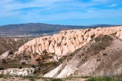 Pidgeon谷,卡帕多细亚,土耳其的美丽如画的看法 图库摄影