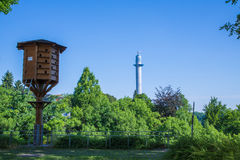 Pidgeon tower and test tower in Rottweil Stock Image