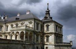 Pidgirtsi slott i den Lviv regionen ukraine Arkivfoto