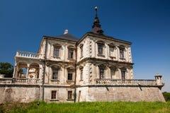 Pidhirci, Ukraine - 23 juillet 2009 : vieux château Pidhirci de palais en Ukraine Images stock