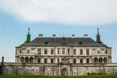Pidhirtsi城堡的看法 免版税库存照片
