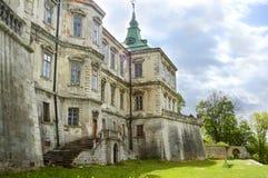 Pidhirtsi城堡,村庄Podgortsy,新生宫殿,利沃夫州地区,乌克兰 图库摄影