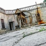 Pidhirtsi Castle Well. Castle Yard View Stock Photography