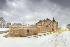 Pidhirtsi Castle of winter landscape. Lviv Oblast, western Ukrai Stock Images