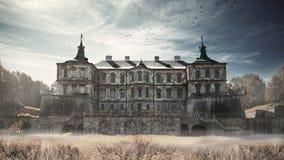 Pidhirtsi Schloss. Pidhirtsi Stockfotografie