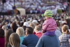 Pieśniowy festiwal Ryski Latvia Zdjęcie Royalty Free